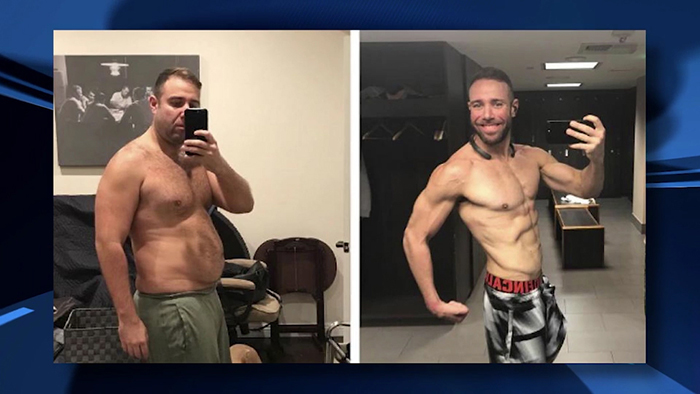 Body transformation - ripped.